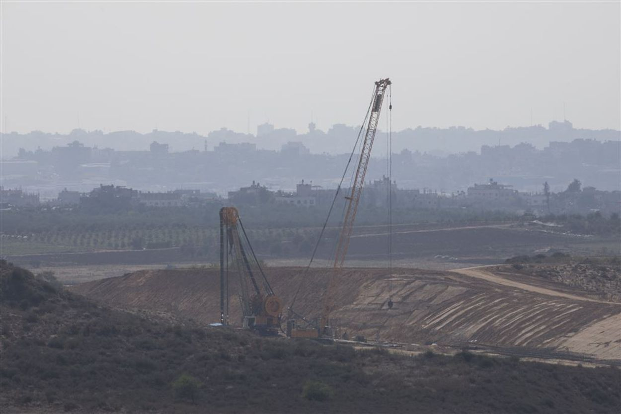 Gaza bouw muur ANP