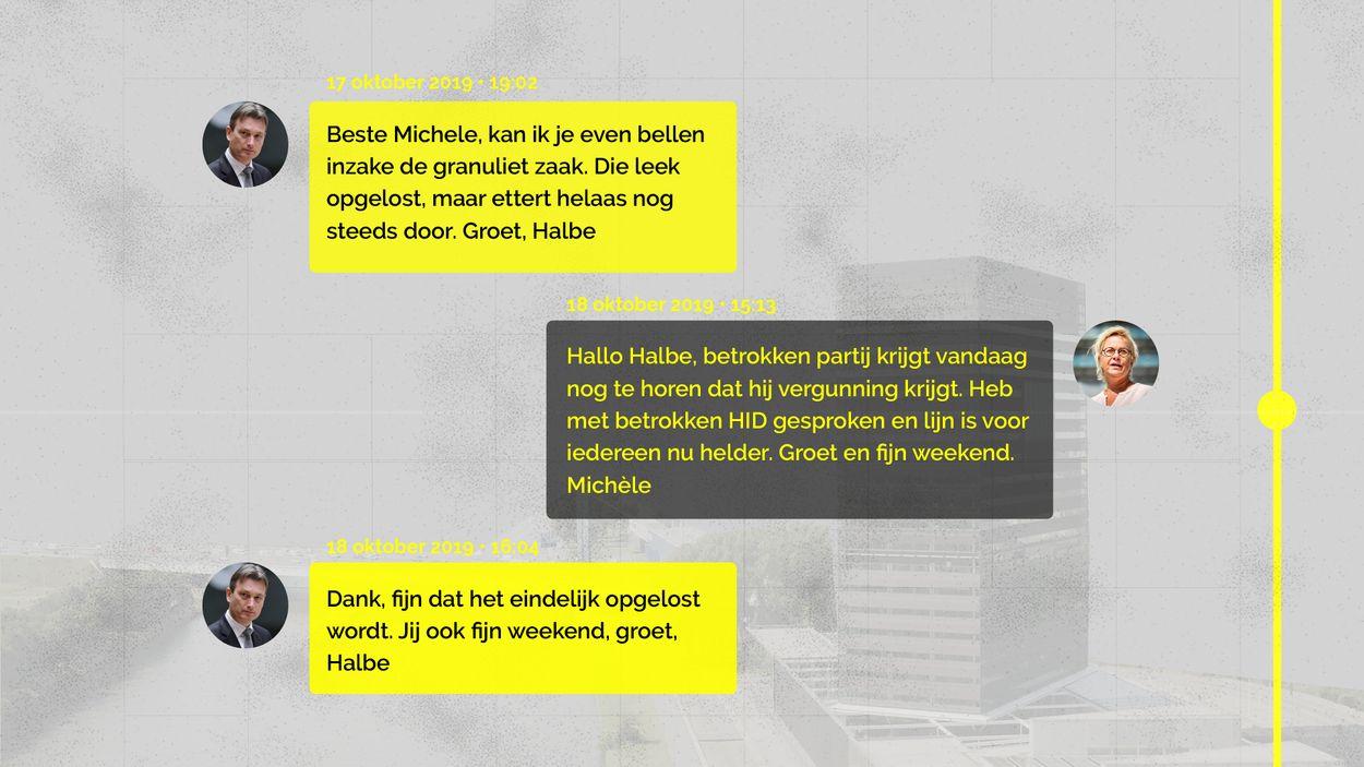 Whatsapp gesprek Blom en Zijlstra