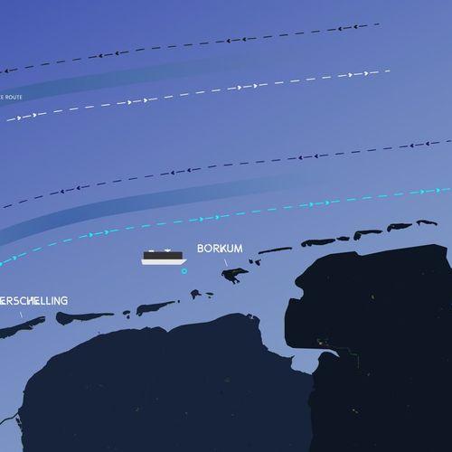 Afbeelding van Opnieuw verliest schip containers boven de Waddeneilanden