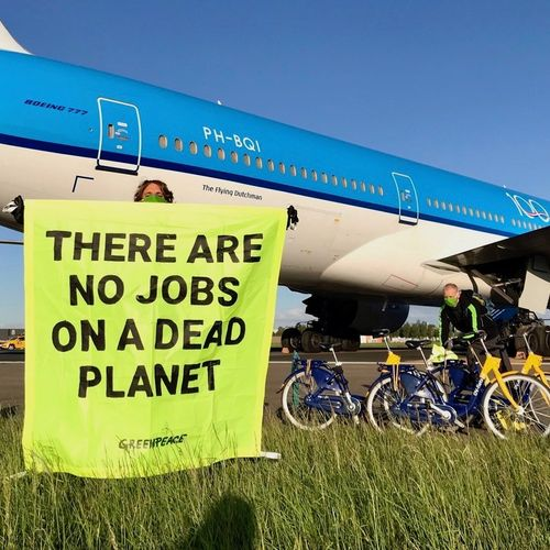 Afbeelding van Greenpeace: 'Schiphol-baas blijft maar drammen om Lelystad Airport te openen'