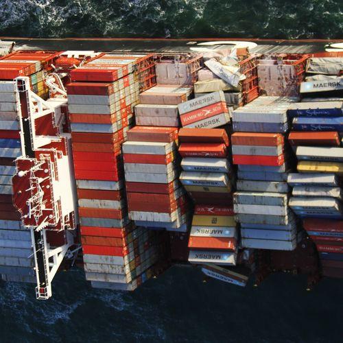Afbeelding van Geen vervolging kapitein voor containerverlies ramp MSC Zoe