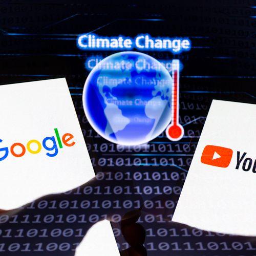 Afbeelding van Google: geen advertenties bij nepnieuws over klimaatverandering